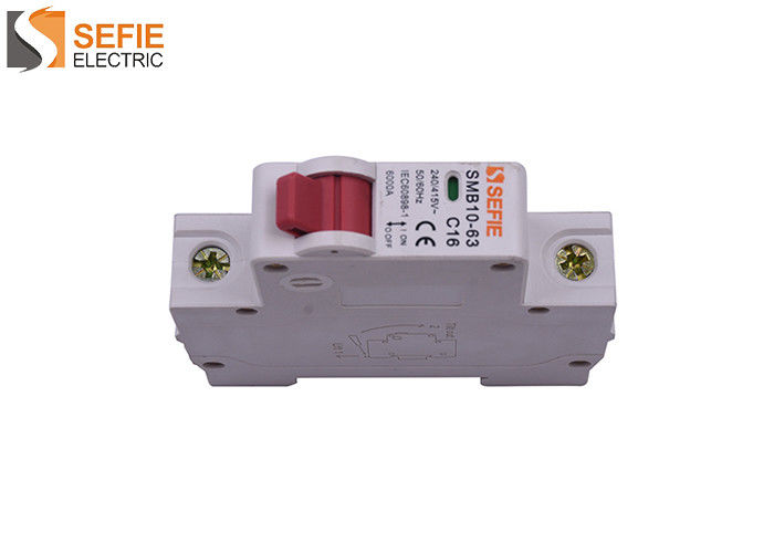 2P Din Rail Type Circuit Breaker 240 Volt Contact Position Indication