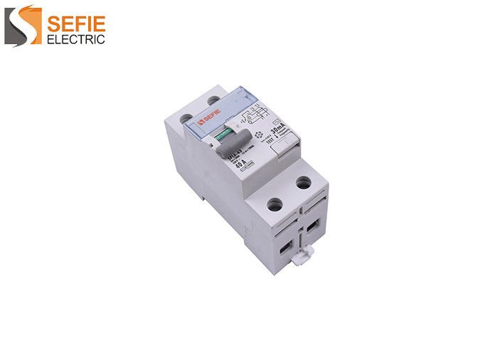 2 Pole Rcbo 30ma  Rcd Controlled Circuits Switch IEC60898 Certification